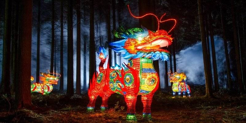 A Chinese Lion at the Festival of Lights, Longleat © VisitEngland