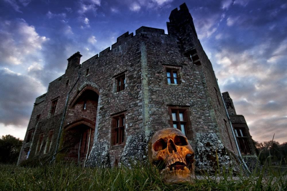 Muncaster Castle at Halloween