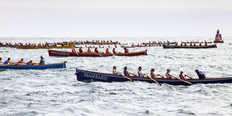 Scilly Gig Race at the Island Regatta © VisitScilly