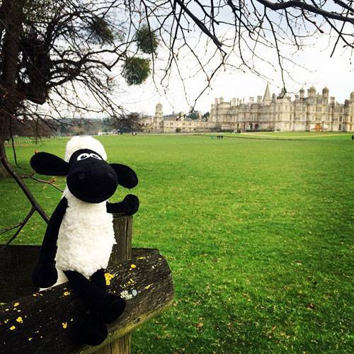 Shaun the Sheep outside Burghley House