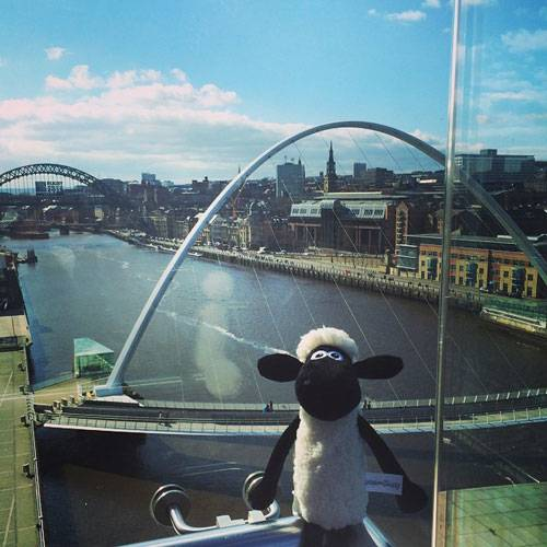 Shaun the Sheep at the BALTIC in Newcastle