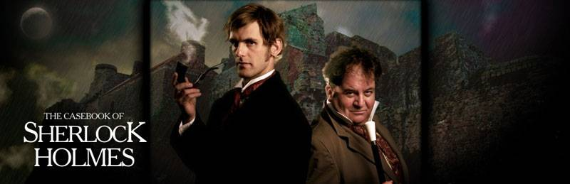 Actors posing as Sherlock Holmes and Dr Watson
