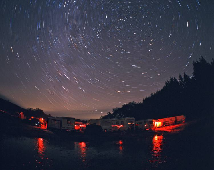 Star trails over Kielder