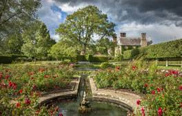 Bateman's - East Sussex (c)National Trust Images, Andrew Butler (rose garden and pond)