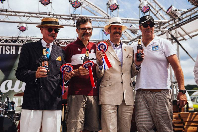 Winners of the 'Best in Show' at Eroica in the Peak District