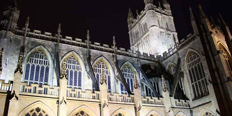 Gloucester Cathedral at night, Gloucester