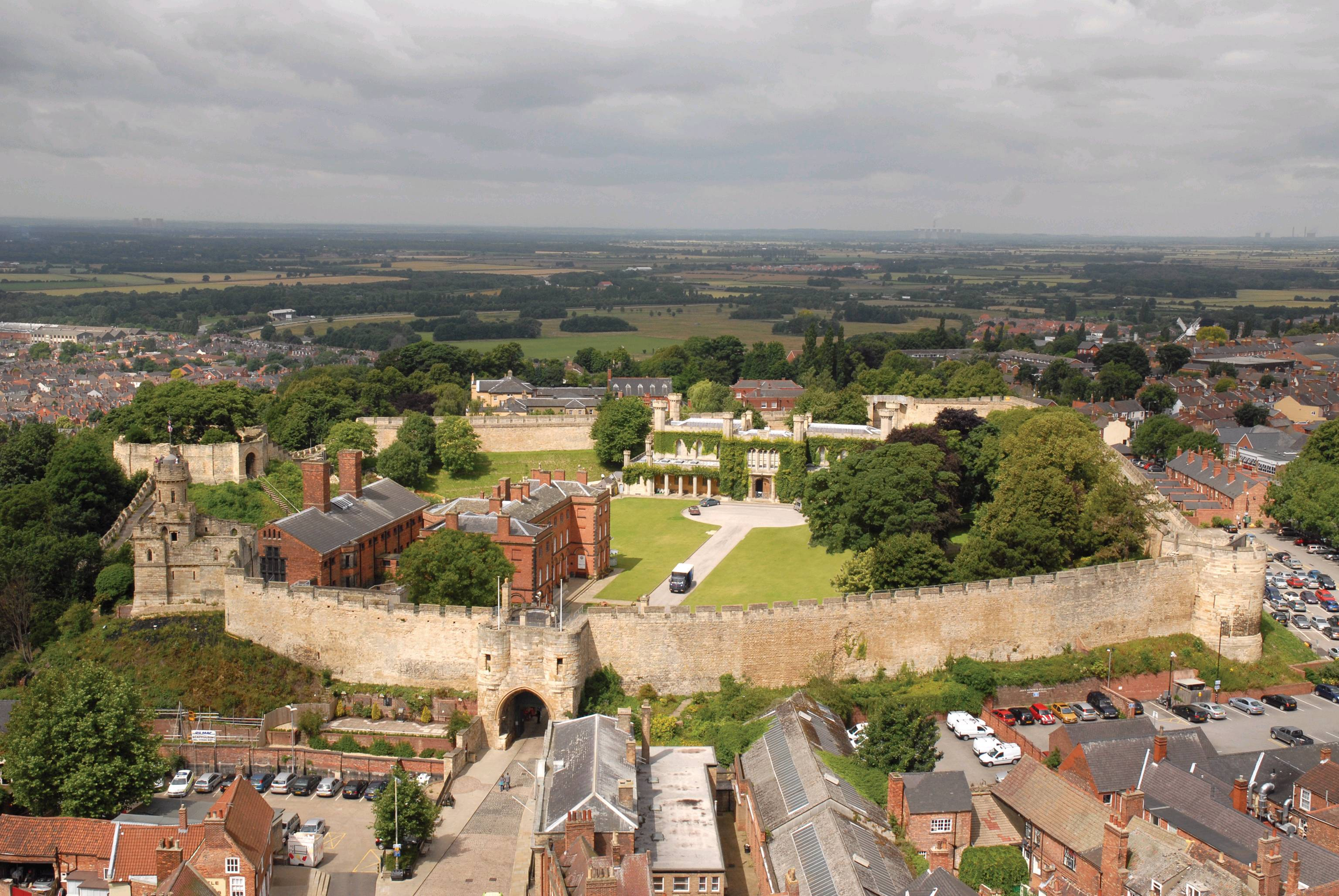 Lincoln Castle from above