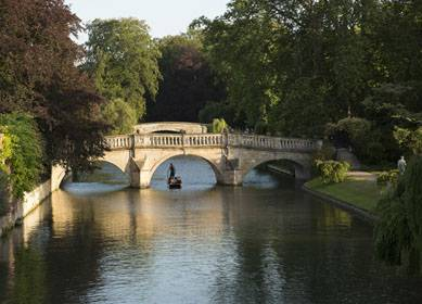 View of Clare College Bridge over the River Cam, Cambridge (C) VisitEngland