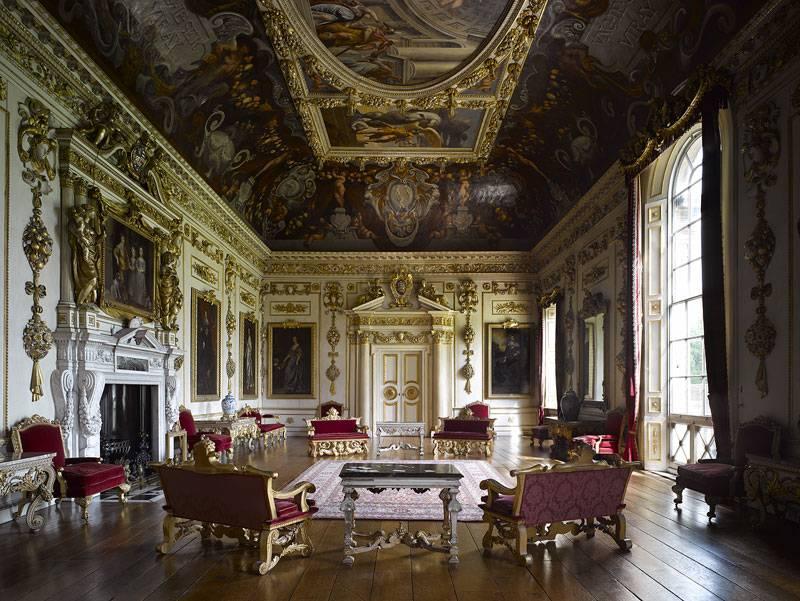 The baroque interior of Wilton House in Wiltshire