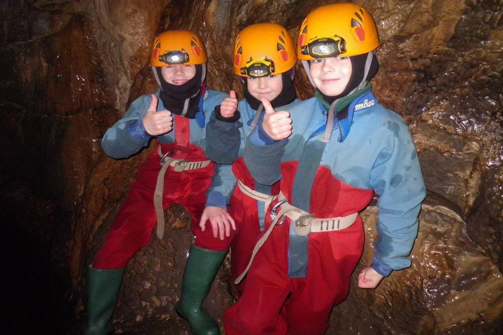 Happy Cavers in Yorkshire