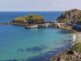 Lundy Island's bright blue sea