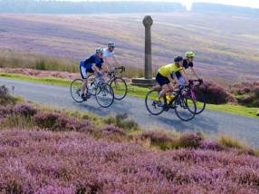 Cyclists at Rosedale in the North York Moors National Park. ©Tony Bartholomew