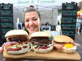Burgers on display at Exeter Food Festival