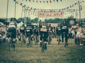 Cyclists line up to race at Eroica