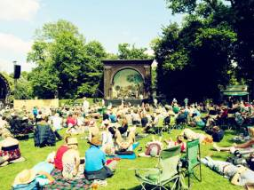 Larmer Tree Festival, just one of many family-friendly festivals in England