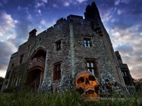 Muncaster Castle on Halloween