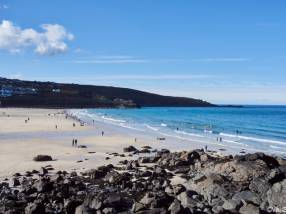 Beach in St. Ives, Cornwall, England.