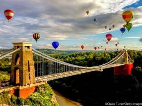 Bristol international balloon fiesta, Clifton Suspension Bridge, Bristol, England