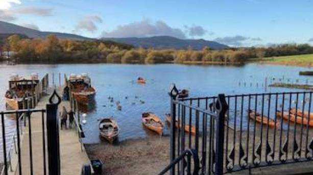 View of Derwentwater in Keswick, the Lake District.