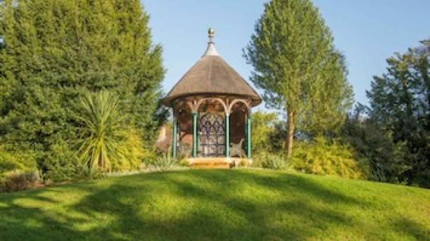 Shuttleworth's Swiss Garden in the sunshine, photo by Nick Hyland Photography.