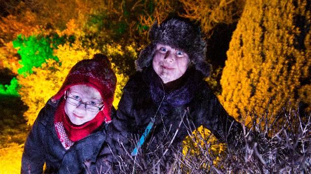 Children enjoying the thrills of Light Night
