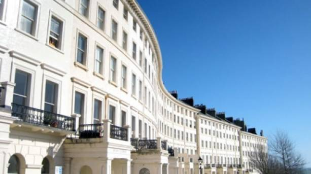 Regency architecture in historic Hove.