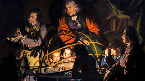 A Philosopher Lecturing on the Orrery oil painting