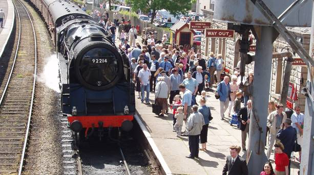 Steam train at Ramsbottom