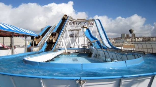 The Wild River flume on Brighton Pier.