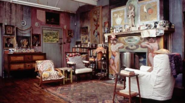 A room used by the Bloomsbury Group at Charleston Farmhouse.