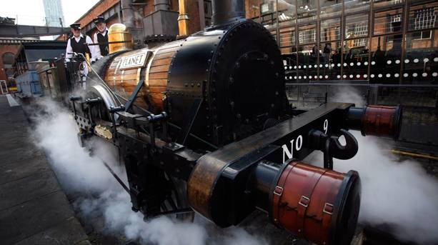 Steam train at the Museum of Science and Industry