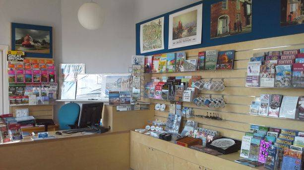 Gift shop at Exeter's Custom House Visitor Centre