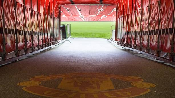 Manchester United player's tunnel