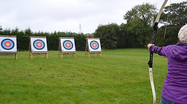 Archery at Wild Park Derbyshire