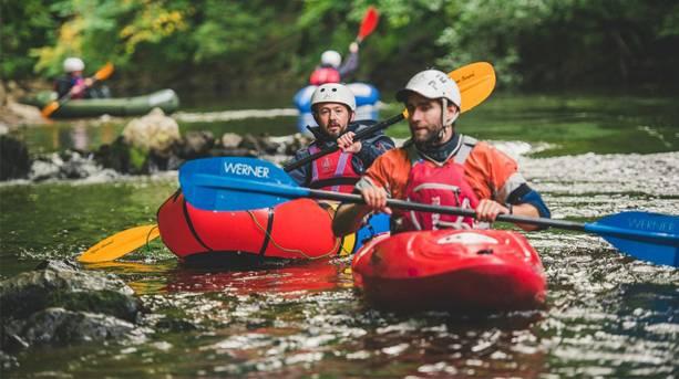Kayaking at the Base Camp Festival