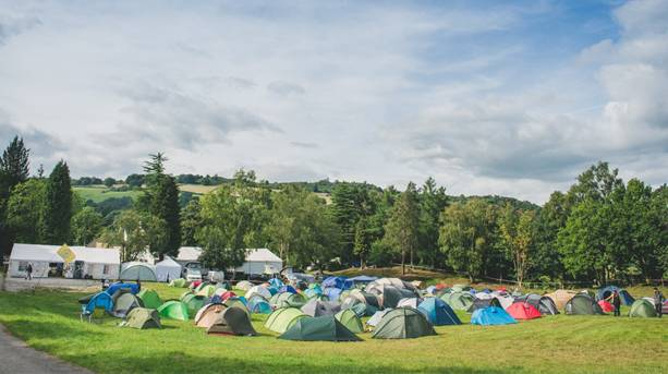 Tents at the Base Camp Festival