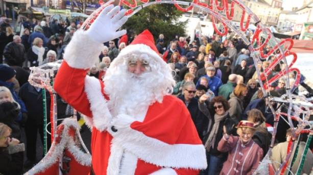 Father Christmas at the Melton Mowbray Victorian Fayre