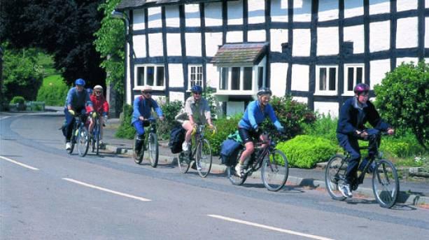 Cycling in Ledbury.