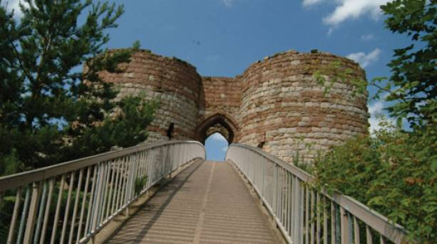 Bridge up to Beeston Castle, Cheshire