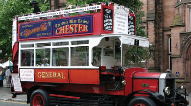 Chester Heritage Tours Bus, Cheshire