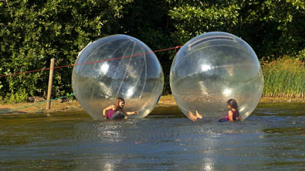 Zorbing and activities on Overton Lake