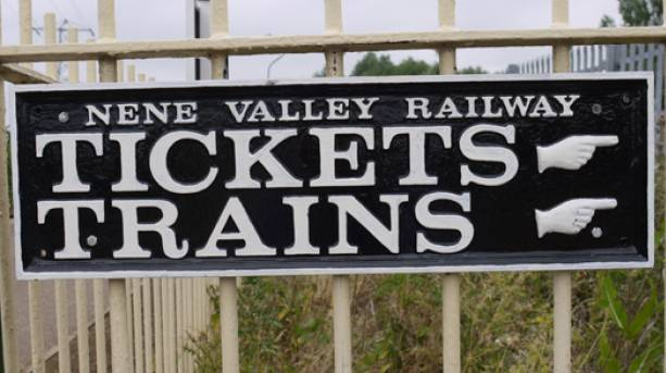 Nene Valley Railway sign
