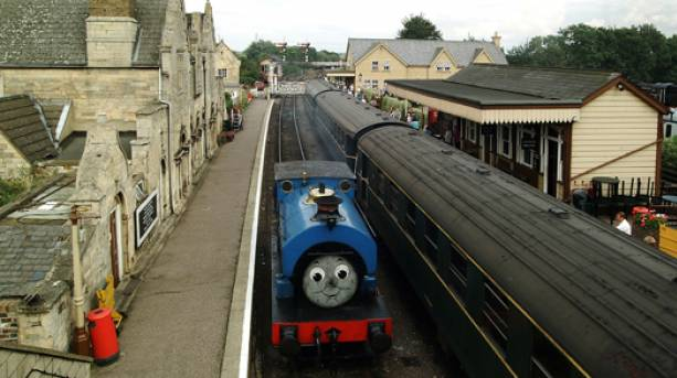 Thomas the Tank Engine train at Nene Valley Railway