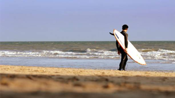 Surfing at Boscombe