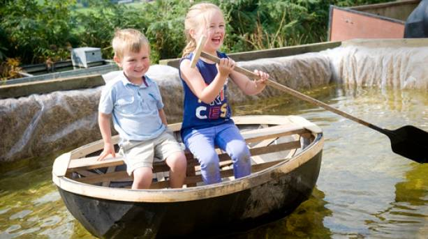 The National Forest & Beyond - National Forest Wood Fair kids in coracle