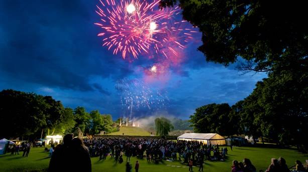 Fireworks at Pontefract Castle