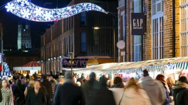 Crowds at the Victorian Christmas Market