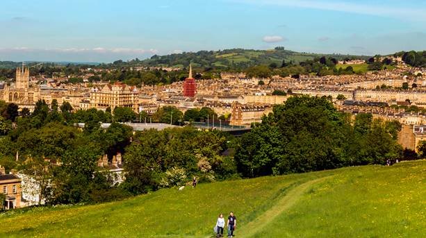 Abbey and Empire from Bathwick Fields