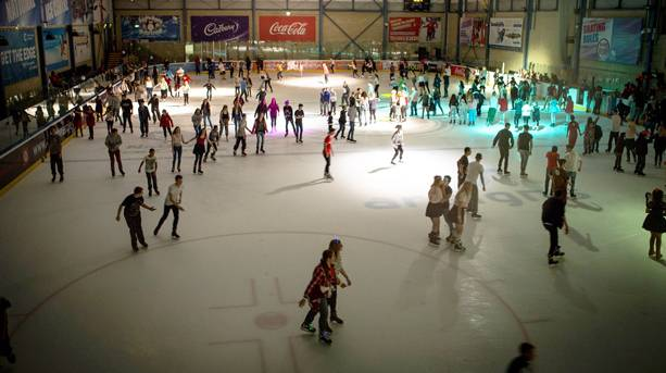 Skaters at the National Ice Centre, Nottingham