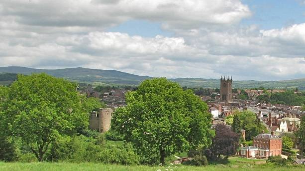 Ludlow Castle view from Whitcliffe Common